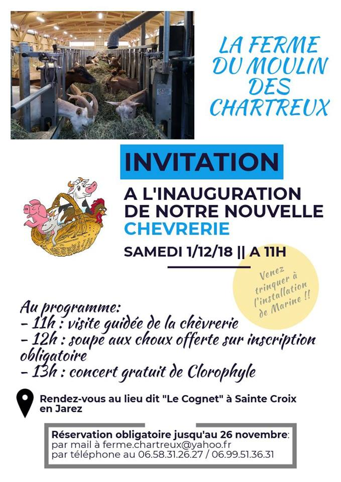 Inauguration chèvrerie