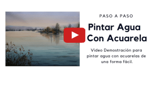 Agua con acuarelas video