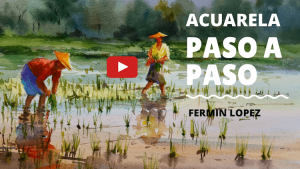 acuarela Vietnam video paso a paso