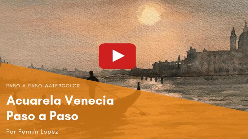 video acuarela Venecia