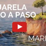 Aprender a Pintar con Acuarela un Acantilado Marino