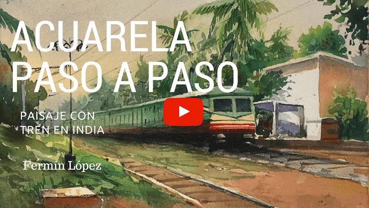 Cómo pintar un paisaje con Acuarelas. Video.