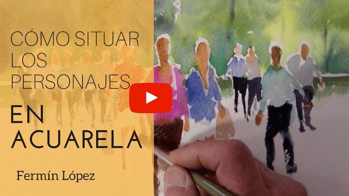 Personajes en Acuarela