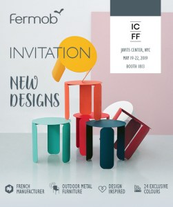 fermob outdoor furniture at icff show