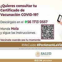 Así puedes descargar por WhatsApp tu certificado de vacunación COVID-19