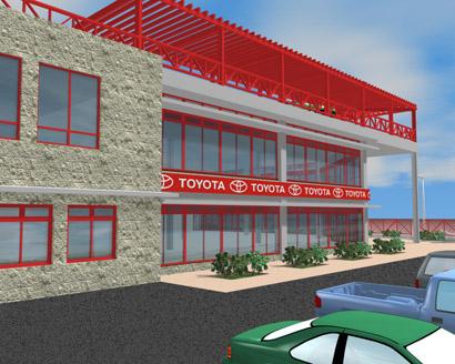 Edificación Industrial, comercial y de servicios. Toyomotor