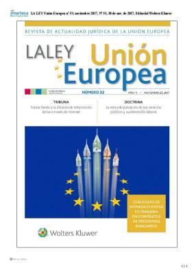 LA LEY Union Europea nº 53, noviembre 2017 9266