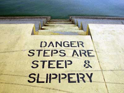 Image showing dangerous and slippery steps