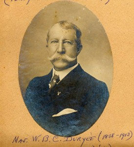Major W.B.C. Duryee  (photo courtesy Amelia Island Museum of History)