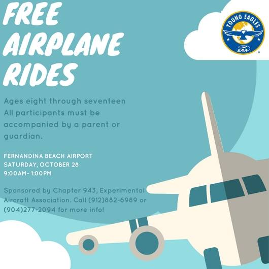 Free flights for youngsters this Saturday at