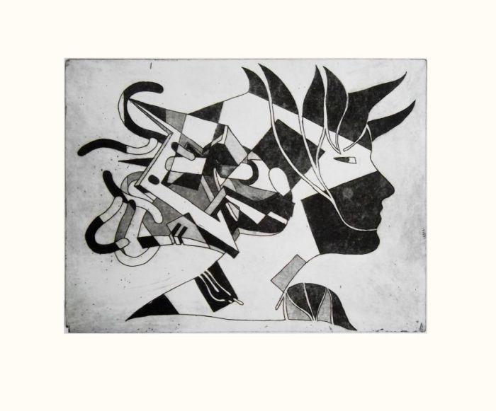 FESTIVA 2010, aguafuerte, papel, 30 x 20 cms.