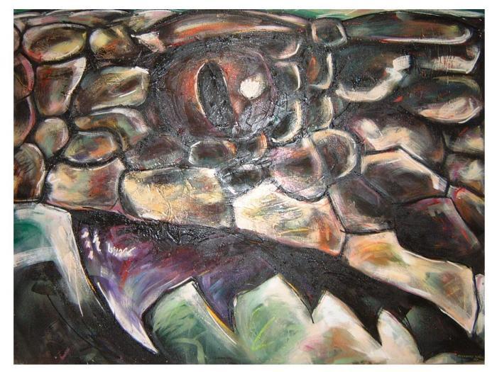 COBRA 1987, mixta, lienzo, 200 x 150 cms.