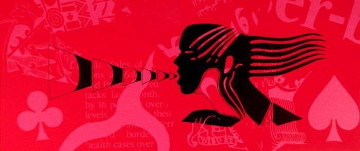 ECO 2010, serigrafia, papel, mancha 40 x 20 cms.