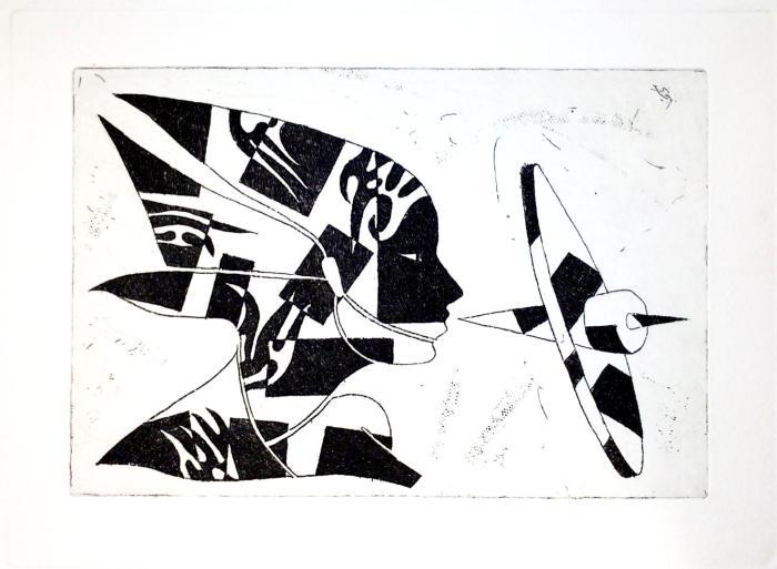 TRAS LAS PALABRAS 2010, aguafuerte, papel. 20 x 15 cms.