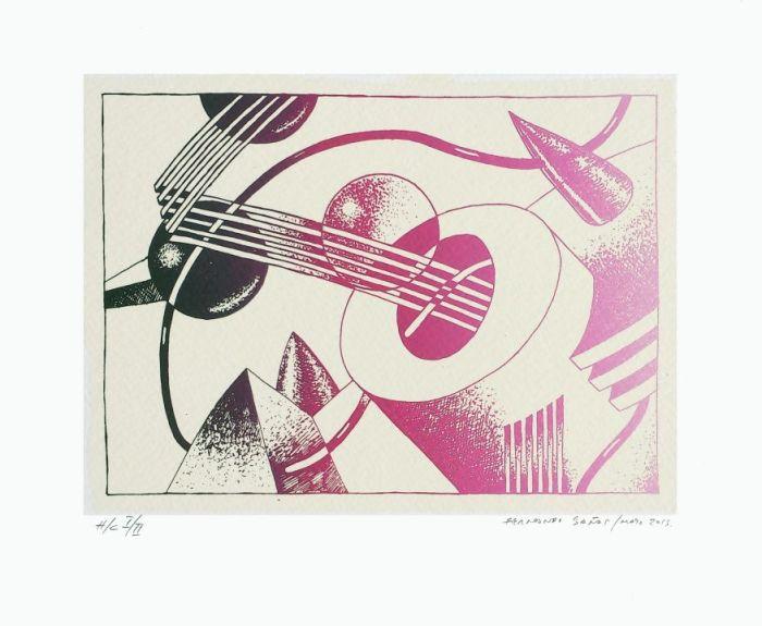 CA_ON CIUDAD A, 2013, serigrafia, PAPEL 18 x 13 cms