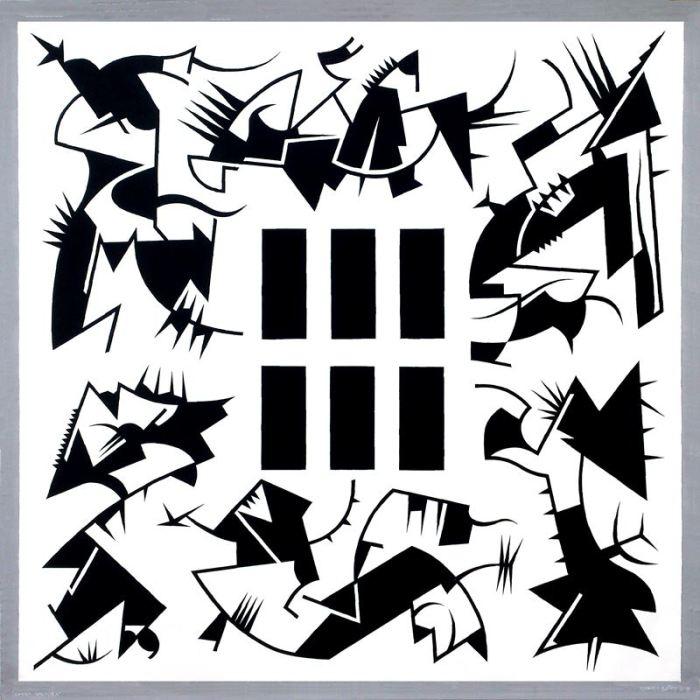 DANZA MACABRA 2019 acrilico lienzo 200 x 200 cms.