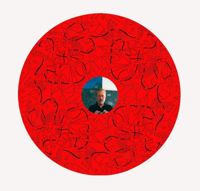 LA CIUDAD ME ATRAPA 2013, mixta, espejo y serigrafia, DM, 140 cms. diametro