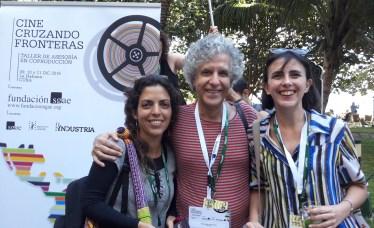 Con las cineastas Gabriela Domínguez y Marina Fernández Ferri, participantes en el evento