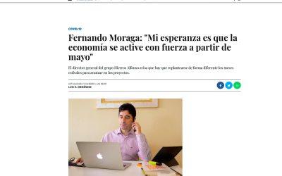 """Fernando Moraga: """"Mi esperanza es que la economía se active con fuerza a partir de mayo"""""""
