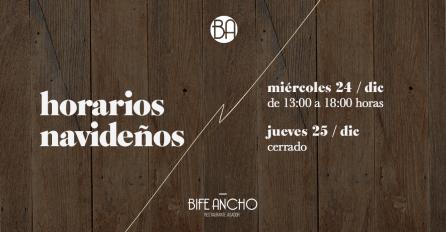BIFE - horarios
