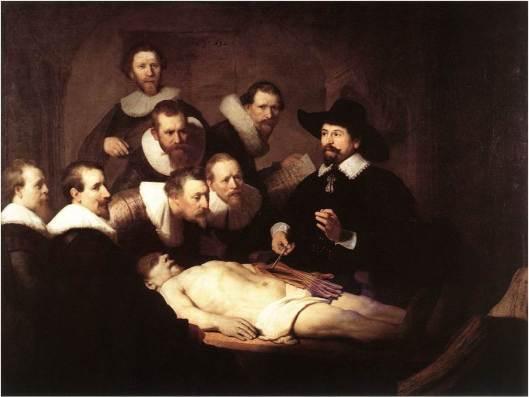 La lección de anatomía del Dr. Nicolaes Tulp de Rembrandt
