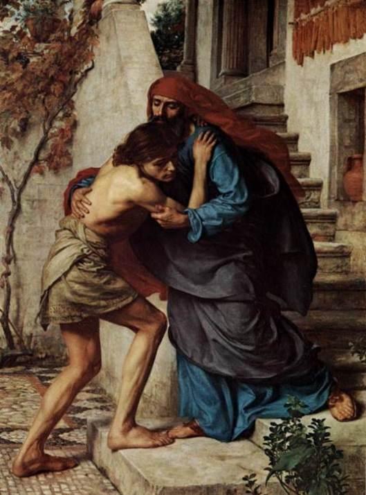 """El regreso del pródigo"" del pintor inglés Edward John Poynter."