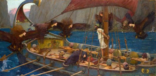 """Ulises y las Sirenas"" de John William Waterhouse."