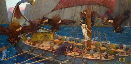 """""""Ulises y las Sirenas"""" de John William Waterhouse."""