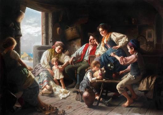 La familia de pescadores de Giovanni Battista Torriglia