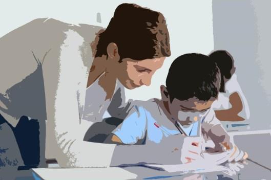 Maestra y alumno