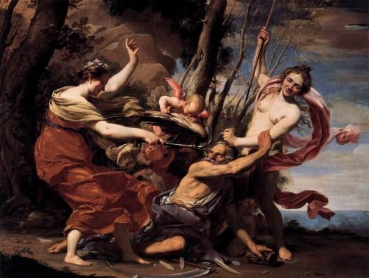 Alegoría del tiempo y la belleza Simón Vouet