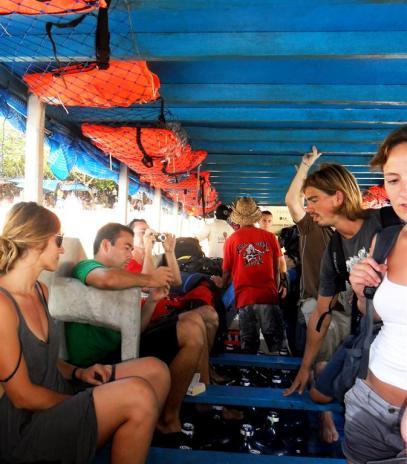 Wir fuhren mit der Fähre ab Sanur auf die Insel Nusa Lembongang - unweit von Bali entfernt