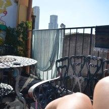 Unser Hostel in Palermo: Sommer-Glücksgefühle auf unserer Terrasse