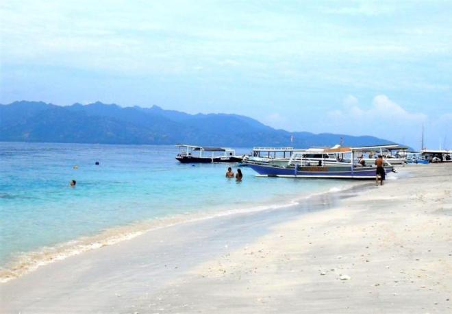 Schönster Strand: Auf den Gili Inseln bei Bali