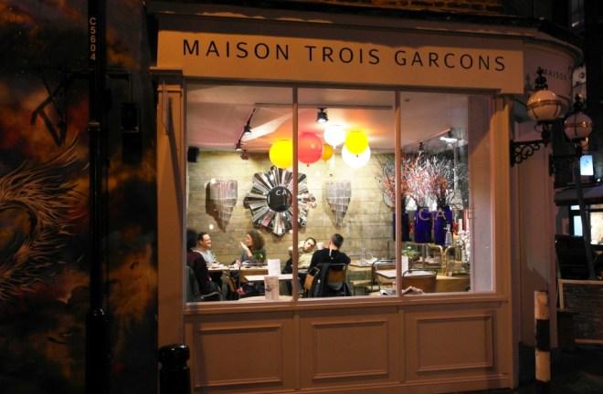 Coole Restaurants in London: Das Maison Troi Garcons im Londoner East End