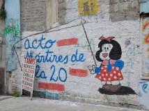 Die Comicfigur Mafalda aus Argentinien zu Besuch in Uruguay