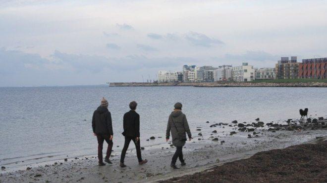 Urlaub in Malmö: Spaziergang am Strand in Schweden, Öresund