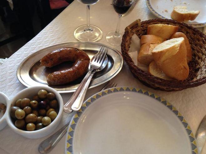 Deftiges portugiesisches Essen im Ponto Grande im Douro-Tal, Pinhao