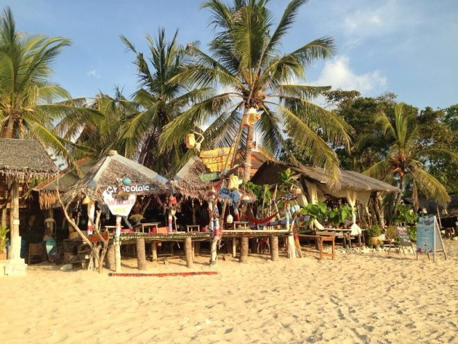 Hippie Bars am Kong Khlong Beach auf Koh Lanta in Thailand