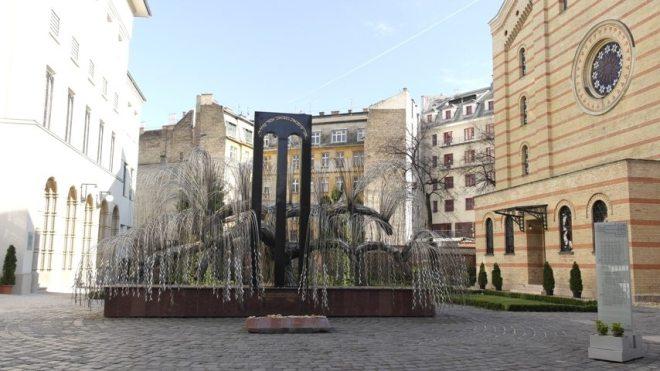 Holocaust Denkmal bei der Großen Synagoge in Budapest