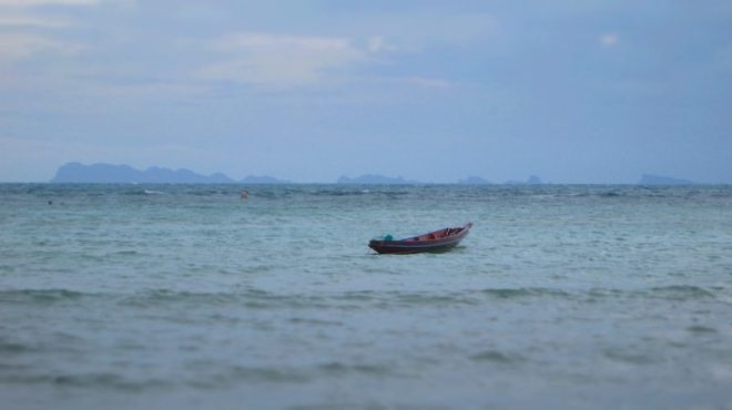 Haad Chao Pao Strand auf Koh Phangan bei Flut