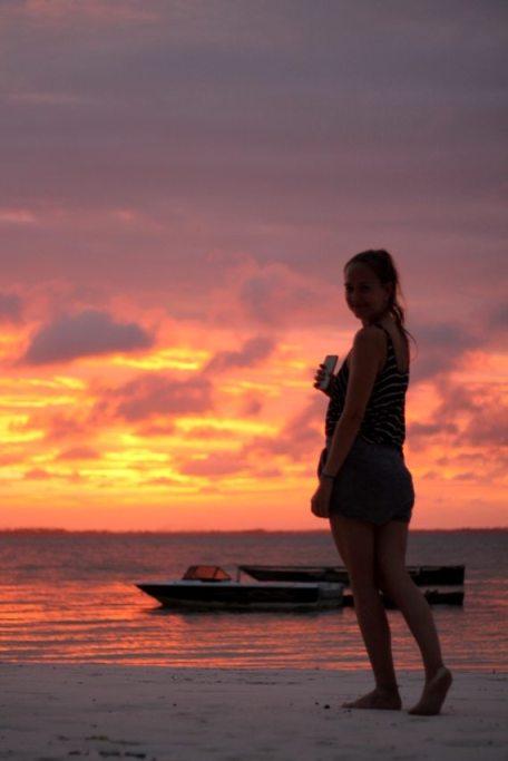 Schönster Sonnenuntergang auf Sansibar: Michamvi Kae