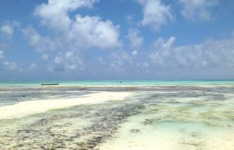 Ebbe in Nungwi an der Ostküste Sansibars