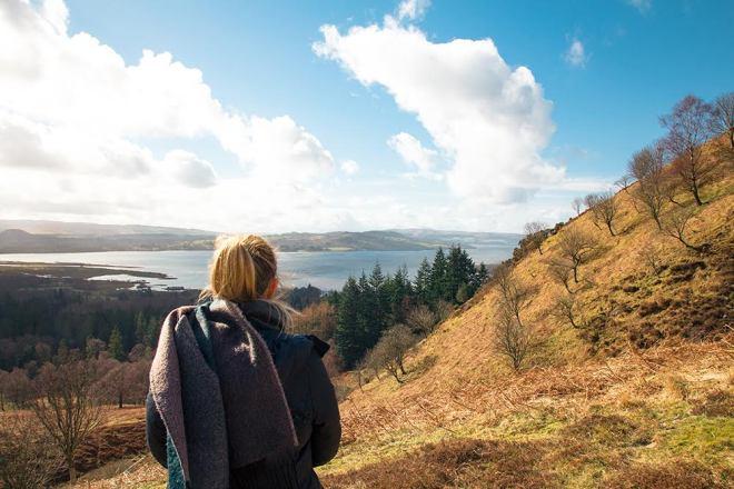 4 Tage in Schottland - ein Highlight war unsere Wanderung auf einen Berg in Balmaha, Loch Lomond