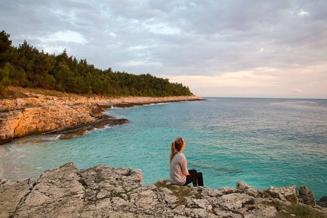 Kap Kamenjak - schoenster Strand vor allem beim Sonnenuntergang