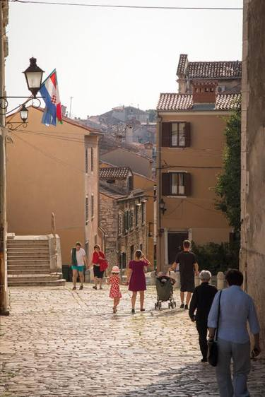 Hügeliges Rovinj - little Italy in Istrien - Kroatien