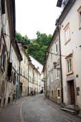 Gassen von Ljubljana in Slowenien