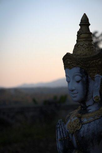 Buddhismus spüren in Chiang Dao im Norden von Thailand