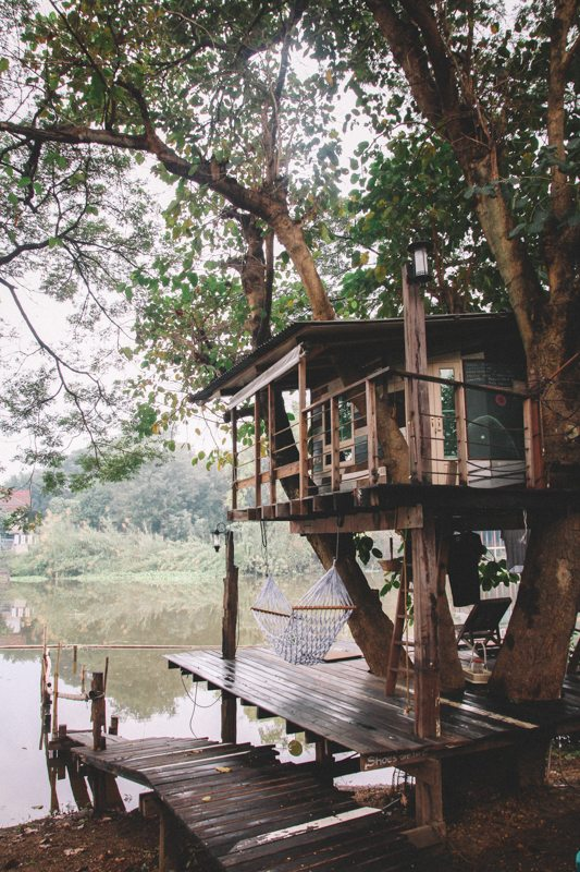Weltreise Highlight in Thailand: Baumhaus in Ayutthaya