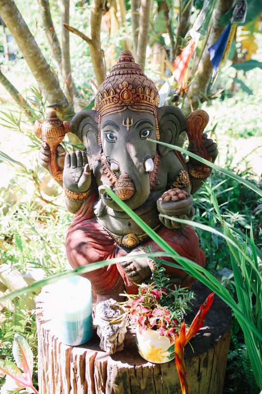 ganesha statue yoga retreat in pai